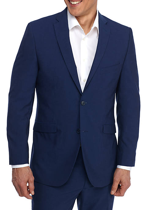 Adolfo Royal Blue Slim Fit Jacket