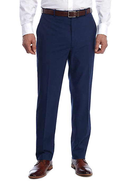 Adolfo Royal Blue Slim Fit Dress Pants