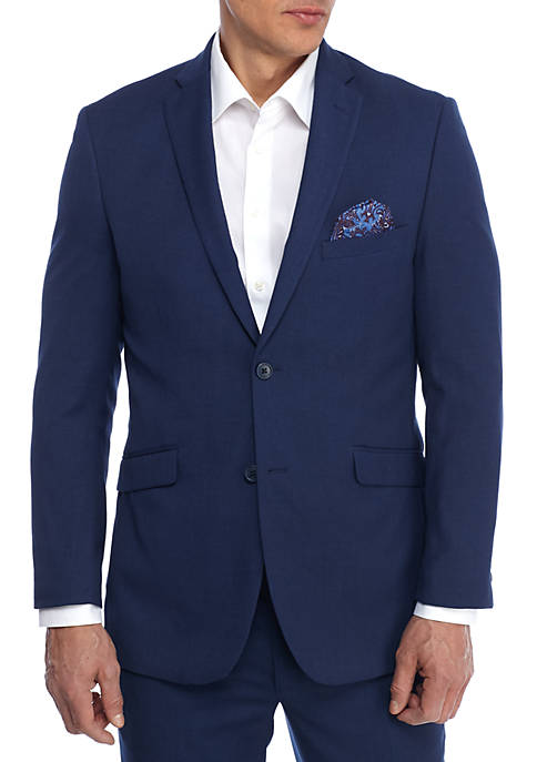 Adolfo Blue Birdseye Slim Fit Jacket