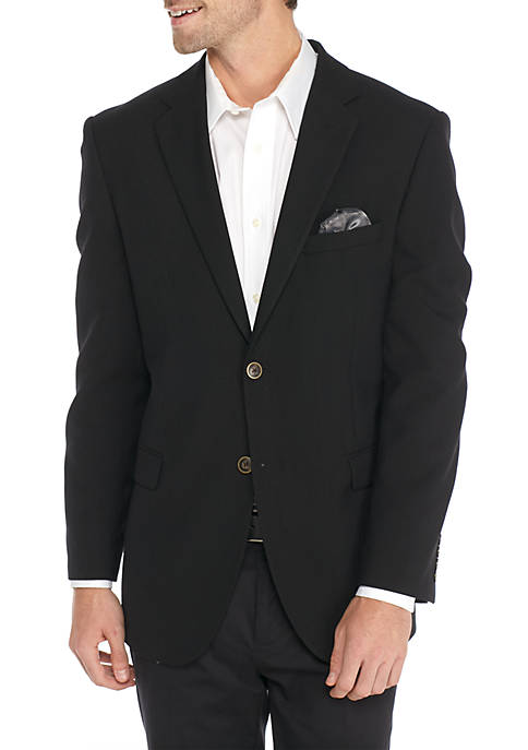 Adolfo Black Hopsack Micro Tech Modern Fit Suit