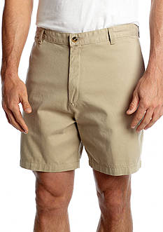 Saddlebred® 7-in. Flat Front Twill Shorts