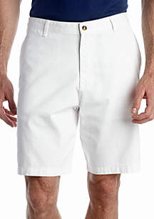 9-in. Flat-Front Twill Shorts
