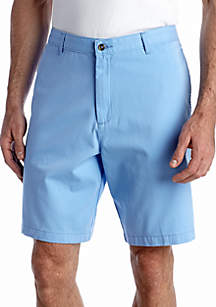 Saddlebred® 9-in. Flat-Front Twill Shorts