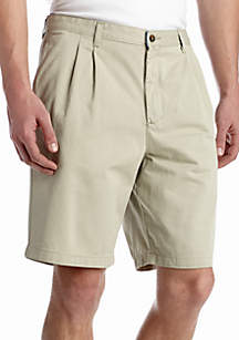 Saddlebred® 9-in. Pleated Twill Shorts