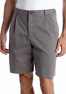 9-in. Pleated Twill Shorts