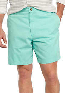 7-in Flat Front Twill Shorts