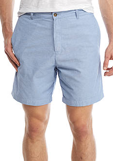 Saddlebred® 7-in Flat Front Oxford Shorts