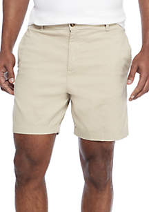 Saddlebred® 7 in Stretch Twill Dry Cement Shorts