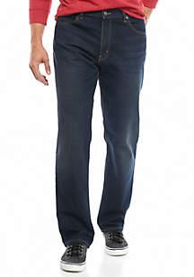 Big & Tall 5 Pocket Straight Fit Stretch Jeans