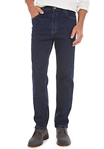Tapered Dark Stretch Jeans