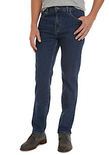 Tapered Medium Wash Stretch Jeans