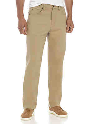 7442b2683 Saddlebred® Stretch Relaxed Fit 5-Pocket Pants ...