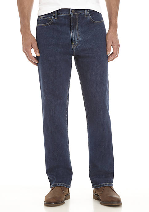Stretch Relaxed Fit 5-Pocket Jeans