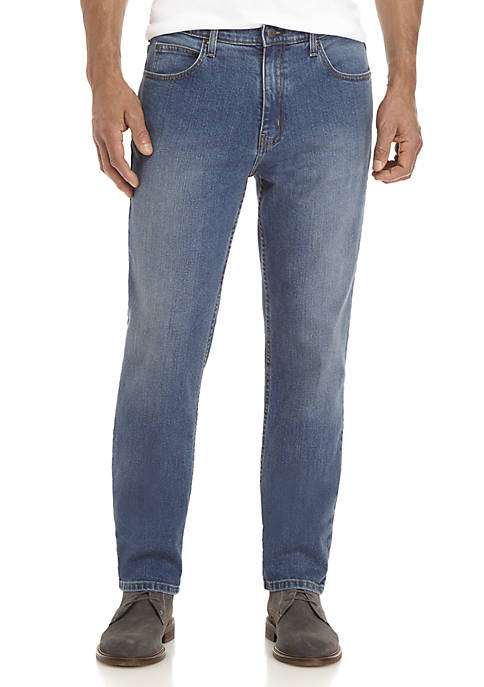 Stretch Tapered Fit 5-Pocket Jeans