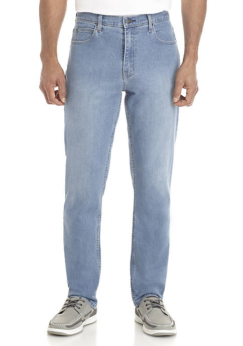 Saddlebred® Tapered Stretch 5 Pocket Jeans