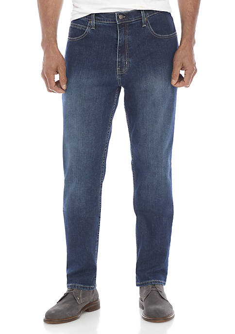 Stretch Tapered Fit 5 Pocket Jeans