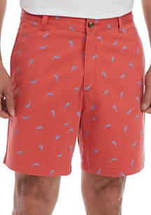 Saddlebred® 7 in Printed Swordfish Shorts