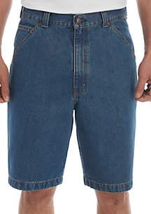Saddlebred® Relaxed Fit Comfort Flex 11 in Carpenter Denim Shorts