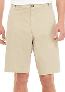 Saddlebred® Big & Tall 10 in Comfort Flex Stretch Pleated Front Twill Shorts