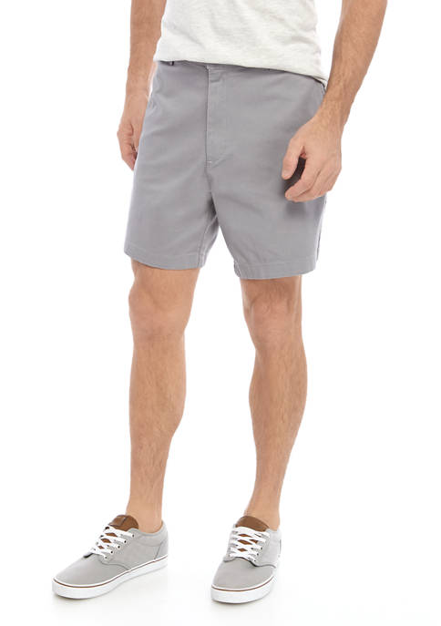 Saddlebred® Comfort Flex 7 Inch Twill Shorts