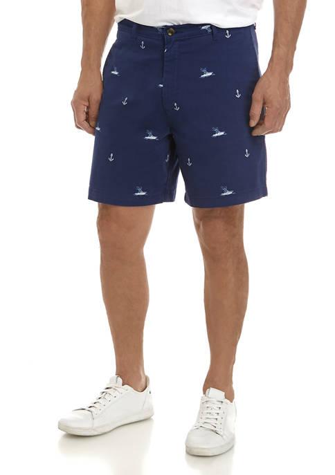 Mens Printed Boat Shorts