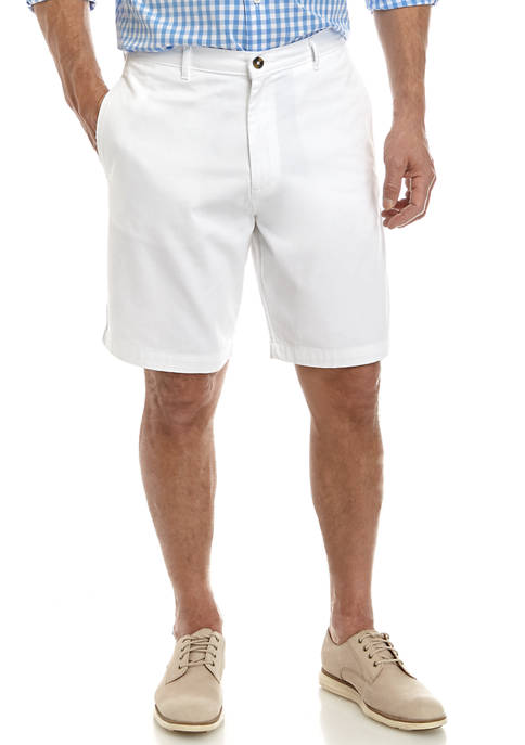 Saddlebred® Comfort Flex 9 Inch Twill Shorts