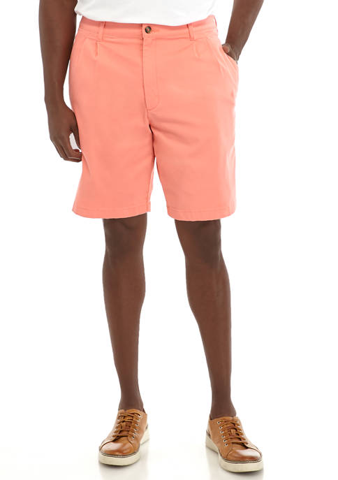 Big & Tall Pleated Coral Shorts