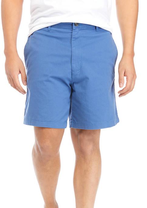 Saddlebred® 7 Inch Twill Flat Front Shorts