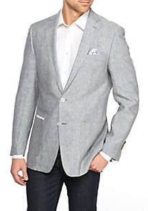 Grey Textured Solid Sportcoat