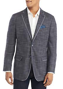 Textured Solid Sport Coat
