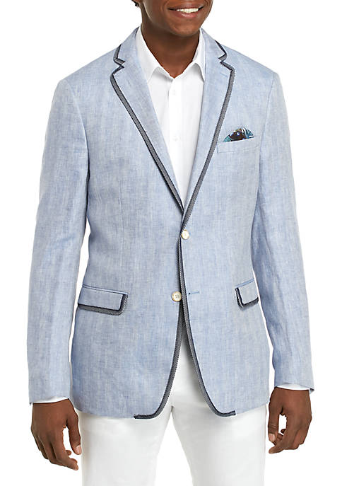 Blue White Herringbone Sportcoat
