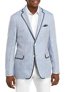 Tallia Orange Blue White Herringbone Sportcoat