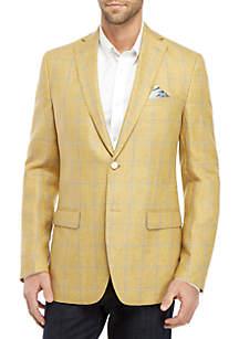 Tallia Orange Yellow and Blue Window Pane Dinner Jacket