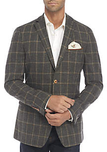 Plaid Deco Suit Coat