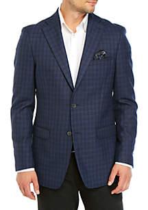 Tallia Orange Blue Check Sport Coat