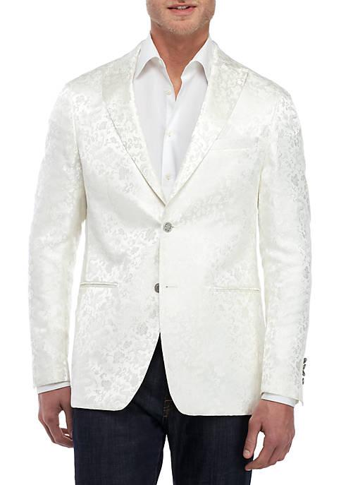 Tonal White Floral Dinner Jacket