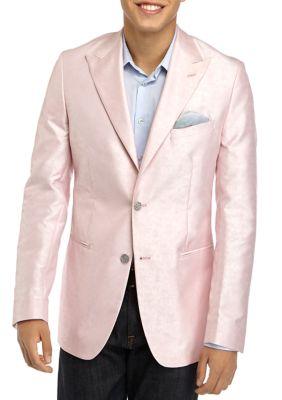 Tallia Orange Mens Pink Paisley Formal Sport Coat