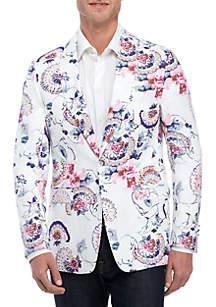 Tallia Orange White Sports Coat with Flowers