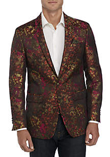 Berry/Orange Floral Dinner Sport Coat