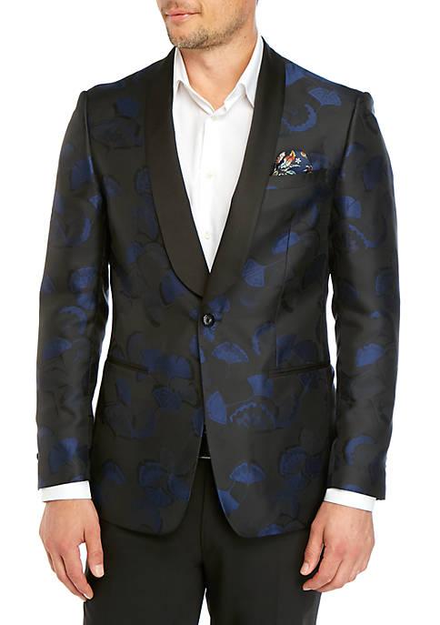 Cobalt Black Floral Dinner Jacket