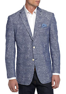 Slim-Fit Paisley Jacquard Sport Coat