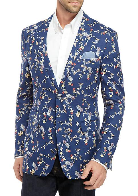 Blue Floral Dinner Jacket