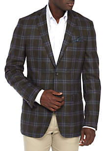 Olive Plaid Sportcoat