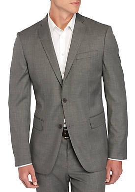 Slim-Fit Stretch Plaid Sport Coat