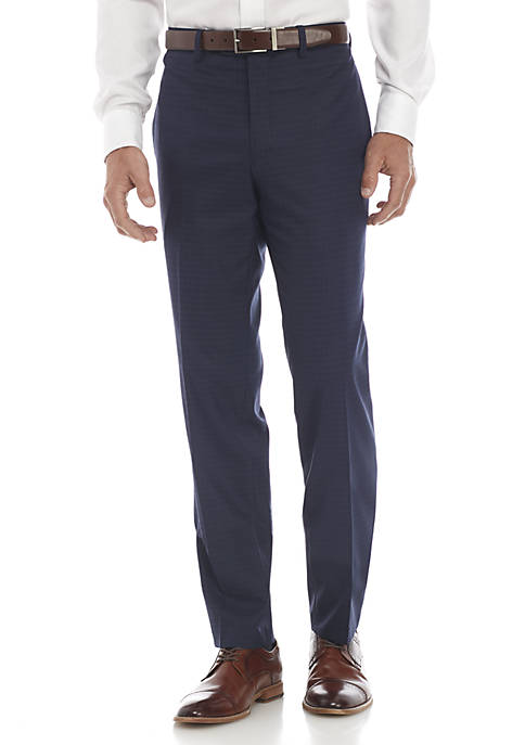 Tallia Orange Blue Stretch Dress Pants