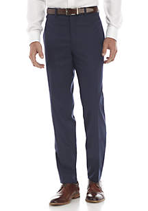 Blue Stretch Dress Pants