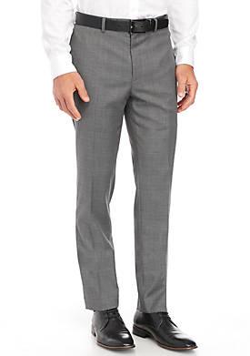 Slim-Fit Stretch Plaid Pants