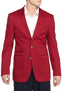Slim-Fit Cotton Solid Sport Coat
