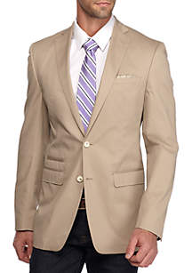 Slim-Fit Tan Solid Sport Coat