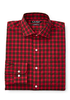 Lauren Ralph Lauren Slim-Fit Plaid Stretch Estate Dress Shirt